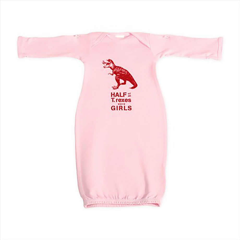 T. rex Baby Gown by Jill and Jack Kids