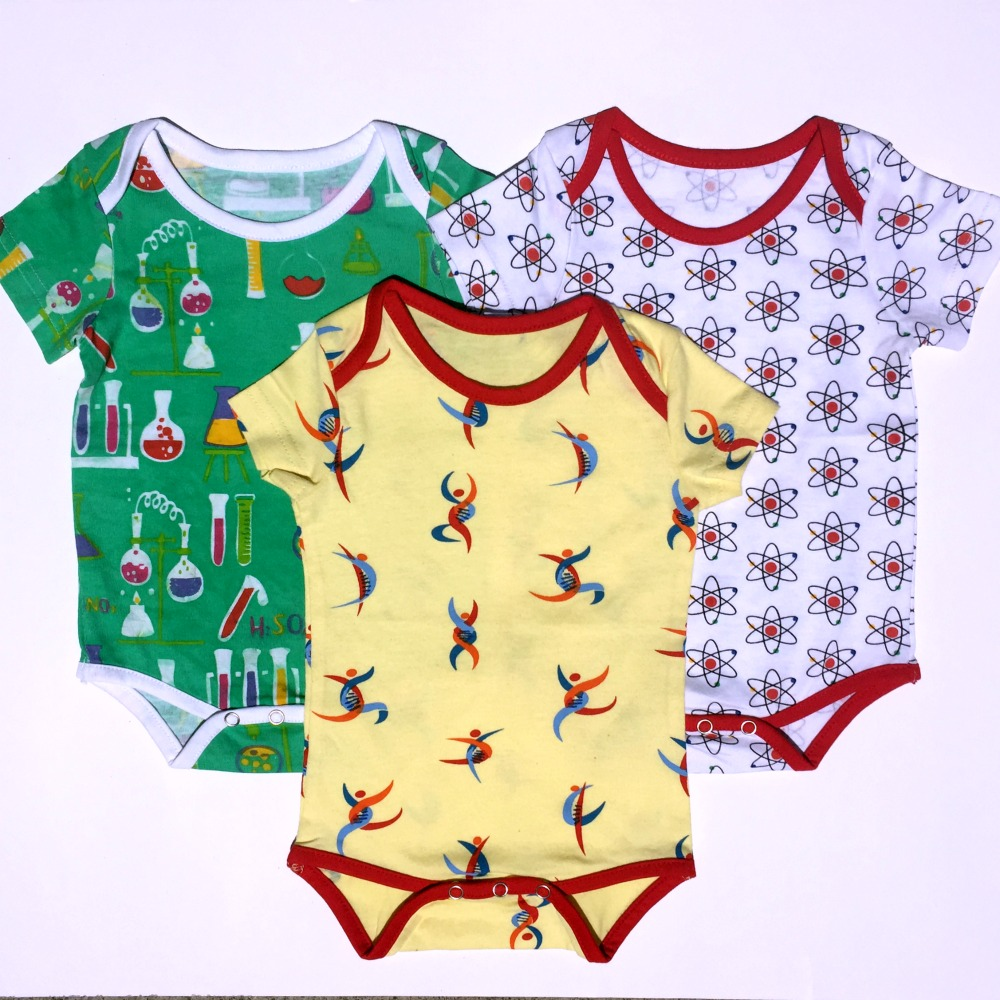Budding Scientist Baby Bodysuit Bundle – Organic Cotton 3-Pack