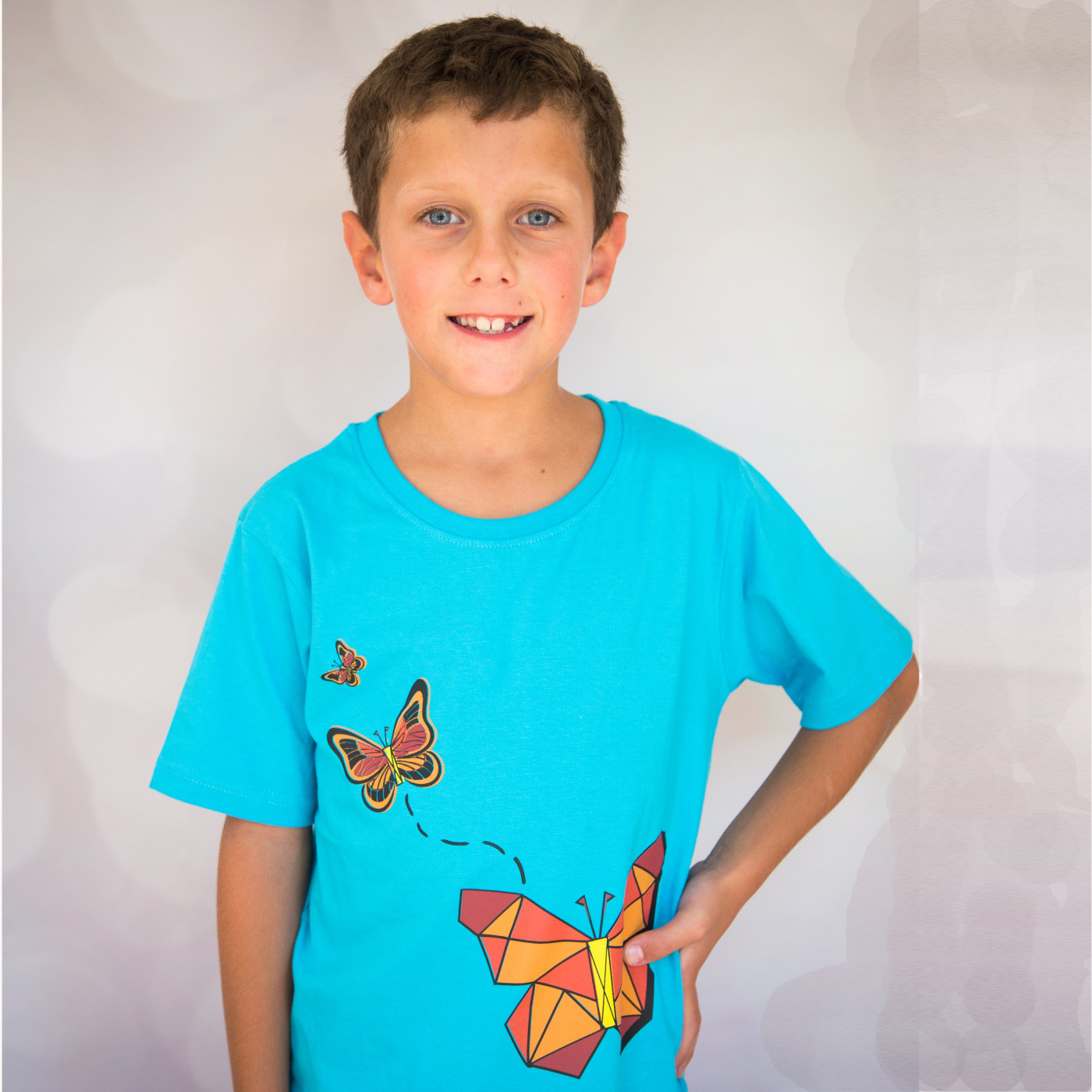 Geometric Butterfly Kids T-Shirt