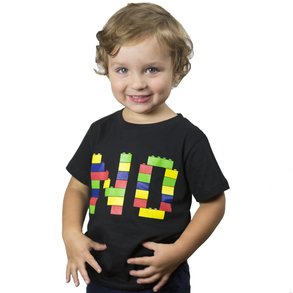 "Building Brick ""No"" Kids T-Shirt"