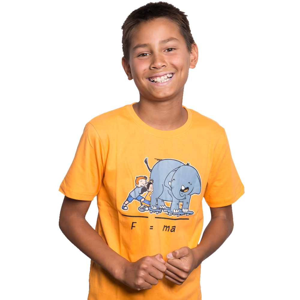 Newton's Law Elephant Kids T-Shirt