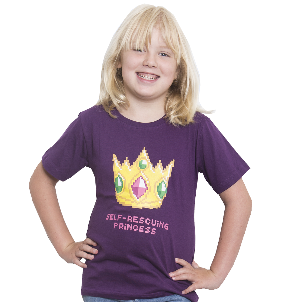 8-Bit Self-Rescuing Princess Kids T-Shirt