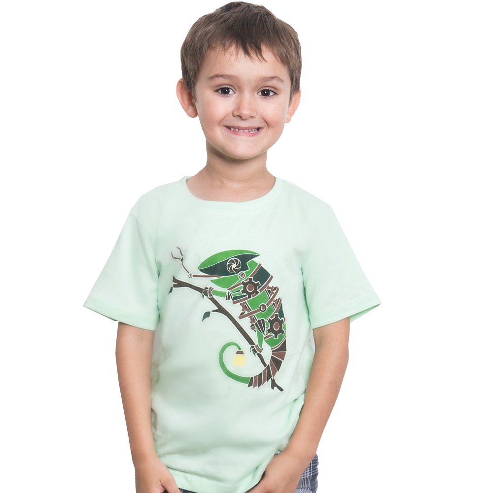 Steampunk Chameleon Kids T-Shirt