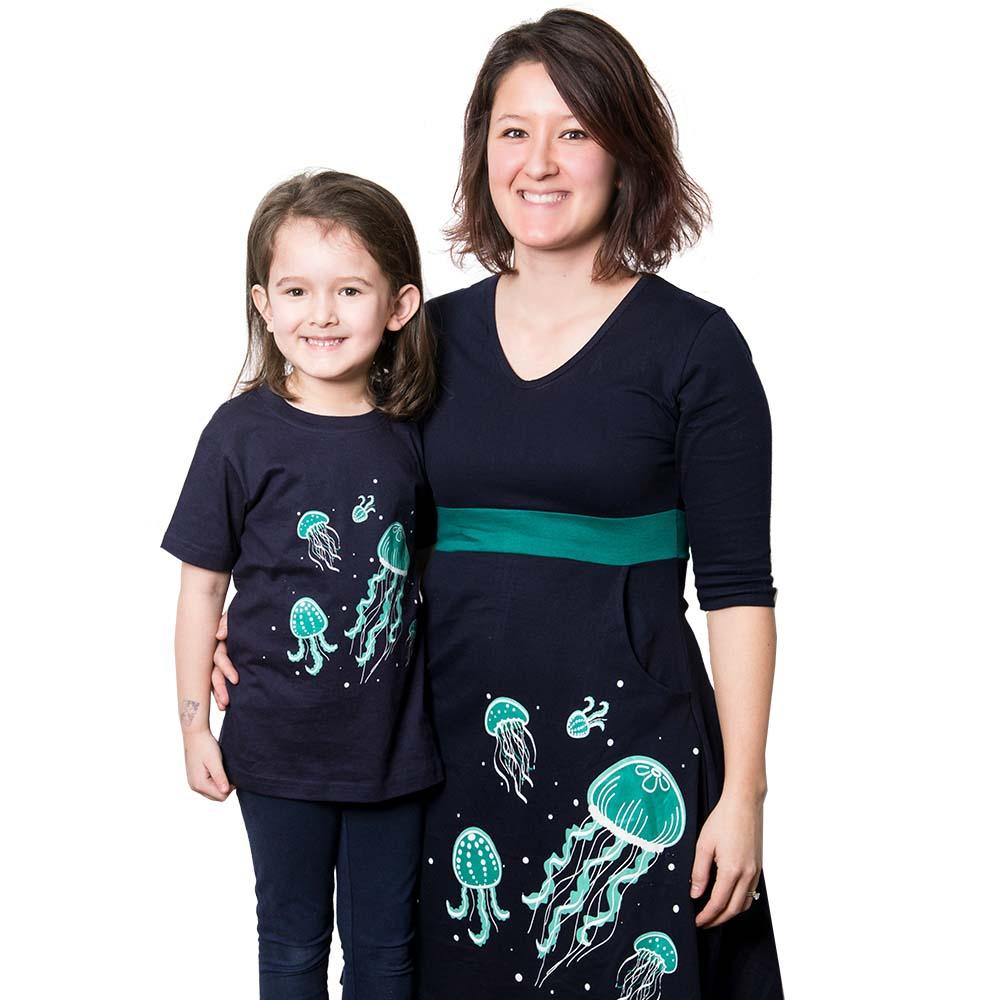 Bioluminescent Jellyfish Glow-in-the-Dark Fit & Flare Dress