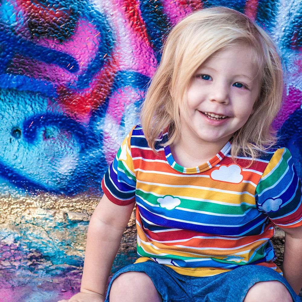 Retro Rainbow T-Shirt by Mitz Accessories