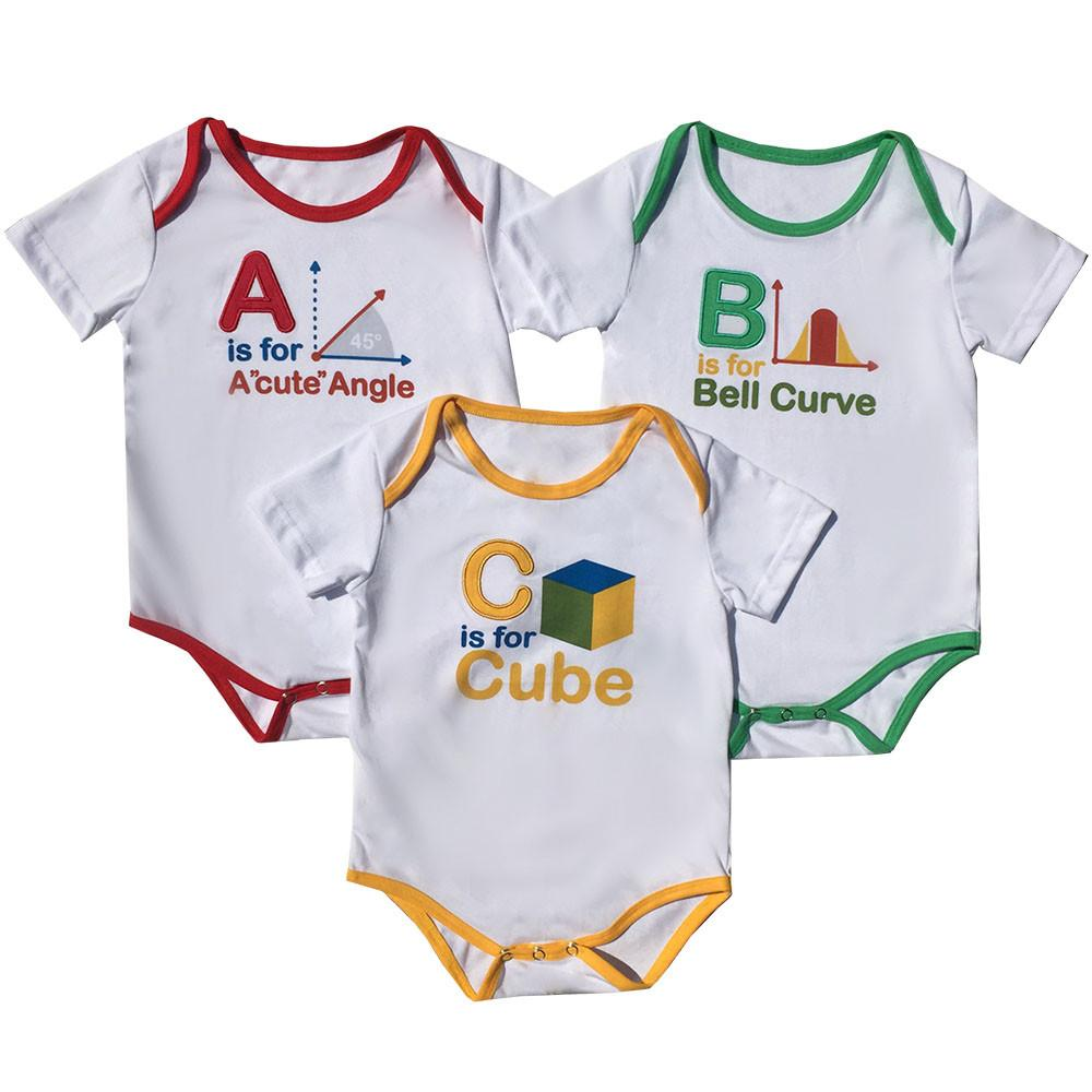 ABC's of Math Baby Bodysuit Bundle - Organic Cotton 3-Pack