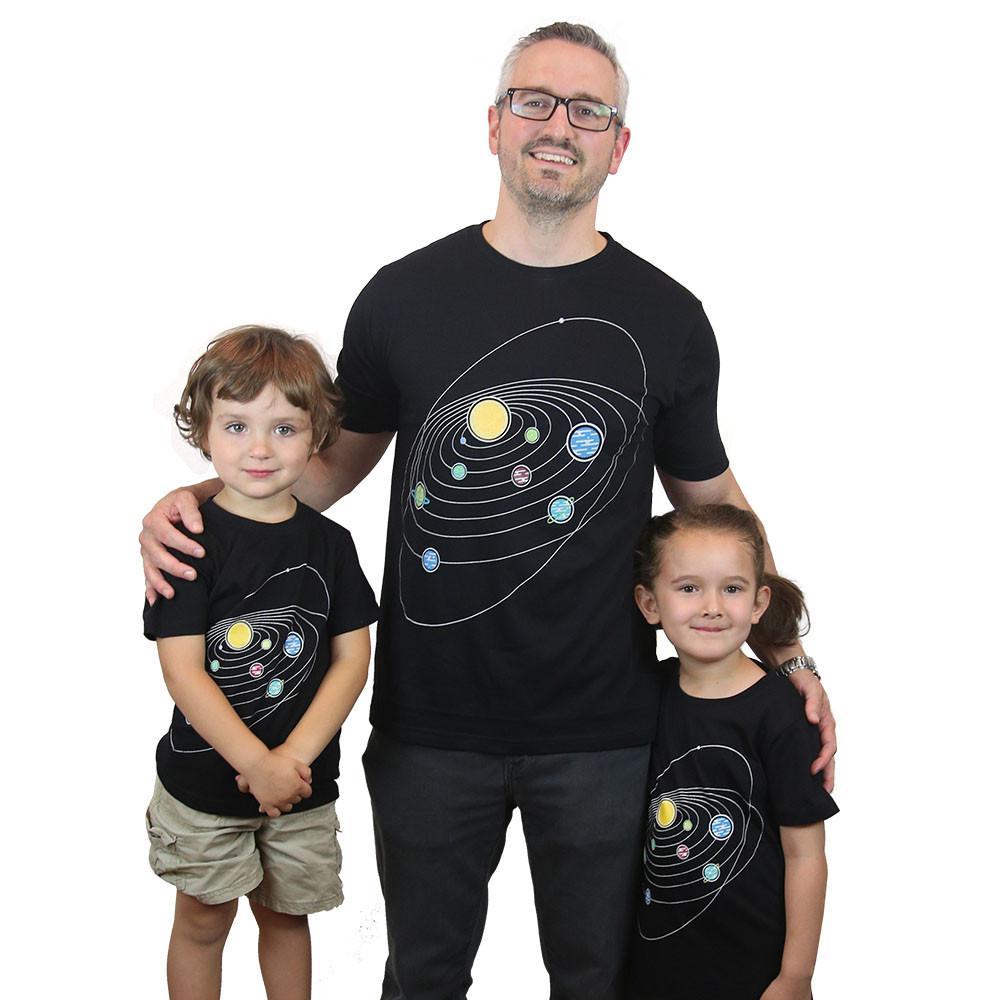 Retro Solar System Glow-in-the-Dark Kids T-Shirt