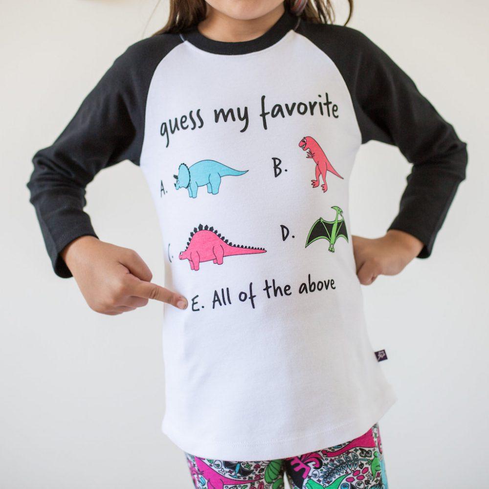 """Guess My Favorite"" Dinosaur Shirt"