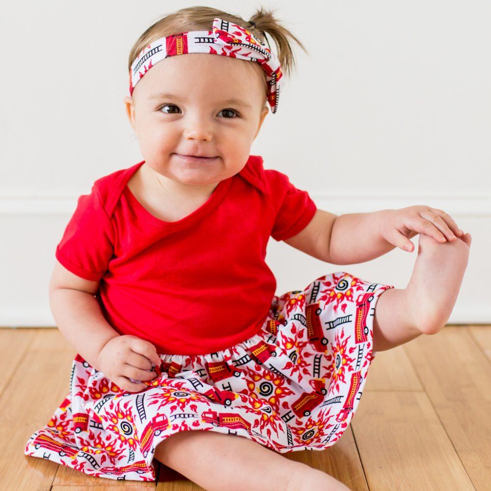 Fire Engines Infant Snapsuit Dress