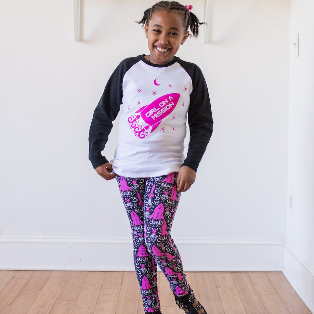 """Girl on a Mission"" Rockets Shirt and Leggings"