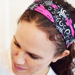 """Fleur de Liftoff"" Rockets Adult Headband"