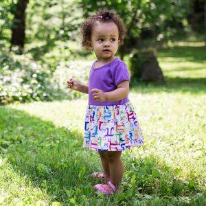 """Pi in the Sky"" Pi Infant Snapsuit Dress"